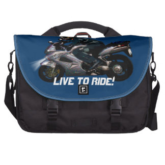 Live To Ride Motorbiker Bags For Laptop