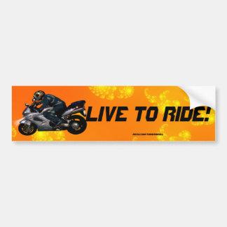 Live To Ride Motorbiker Bumper Sticker