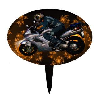 Live To Ride Motorbiker Cake Topper