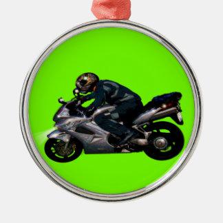 Live To Ride Motorbiker Christmas Ornament