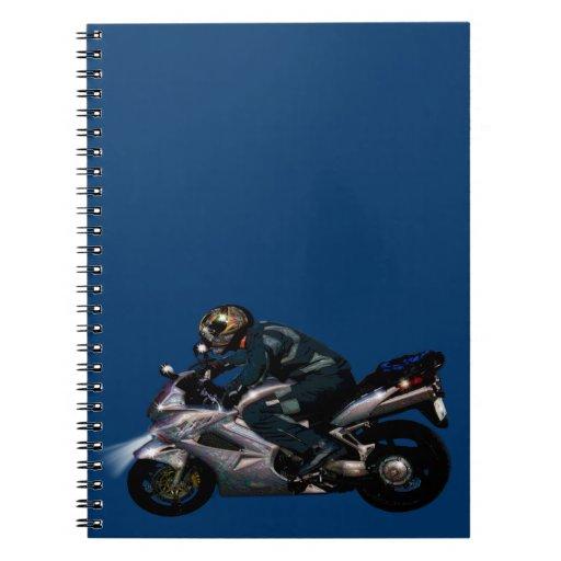 Live To Ride Motorbiker Note Book