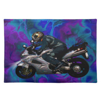 Live To Ride Motorbiker Place Mats
