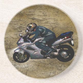 Live To Ride Motorbiker Sandstone Coaster