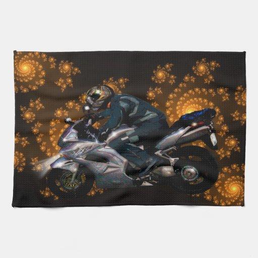 Live To Ride Motorbiker Towel