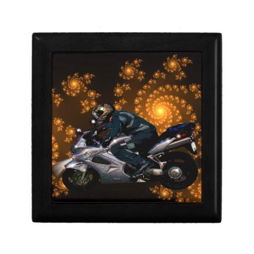 Live To Ride Motorbiker Trinket Boxes