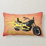 Live to Ride - Motorcycle Lumbar Pillow