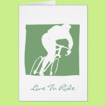 Live To Ride Postcard