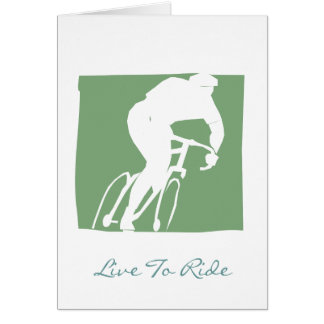 Live To Ride Postcard Greeting Card