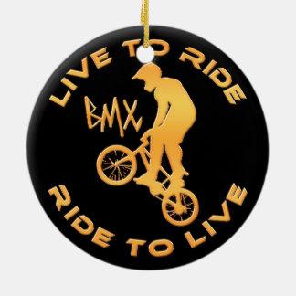 Live To Ride Ride To Live BMX Ceramic Ornament