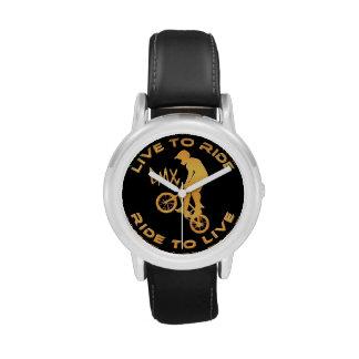 Live To Ride Ride To Live BMX Wrist Watch