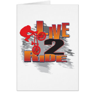 Live to Ride - Ride to Live Greeting Card