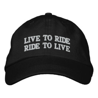 LIVE TO RIDE RIDE TO LIVE EMBROIDERED BASEBALL CAP