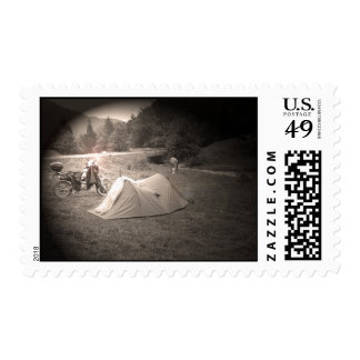 Live to Ride & Ride to Live Postage Stamp