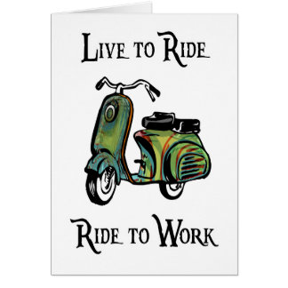 Live To Ride - Ride To Work Greeting Card