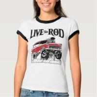 LIVE                                                          TO ROD 1955 Gasser-Drag Racer Shirts