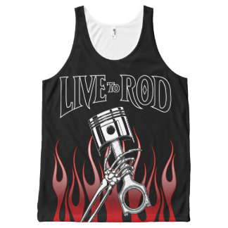 Live to Rod Piston-1 All-Over-Tank All-Over-Print Tank Top