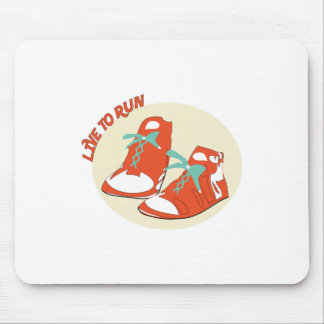Live To Run Mouse Pad