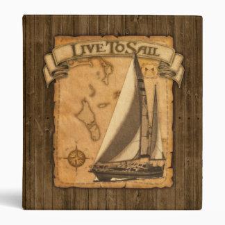 Live To Sail Binder