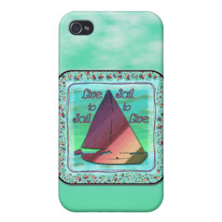 LIVE TO SAIL CASES FOR iPhone 4