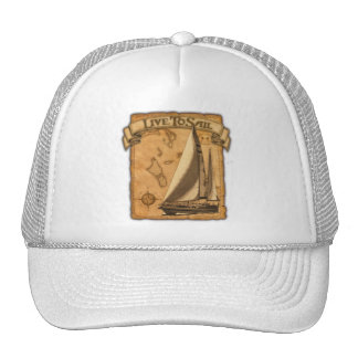 Live To Sail Hat