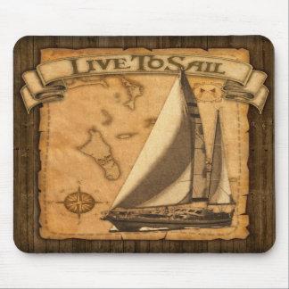 Live To Sail Mousepad