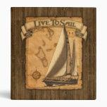 Live To Sail Vinyl Binder
