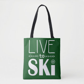 Live to Ski bag - forest green