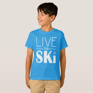 Live to Ski kids shirt