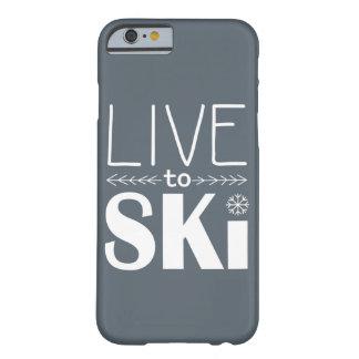 Live to Ski phone case (basic) - grey