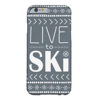 Live to Ski phone case - grey