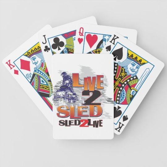 Live to Sled Sled To Live Bicycle Playing Cards