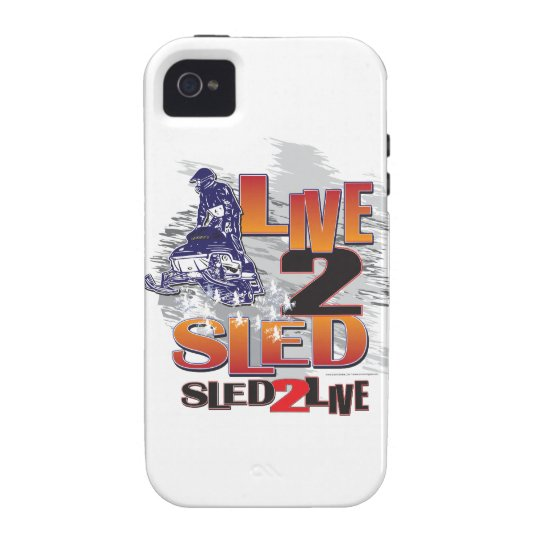 Live to Sled Sled To Live iPhone 4 Cover