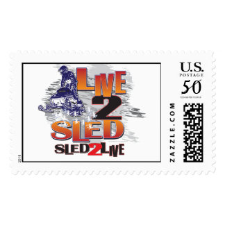 Live to Sled Sled To Live Postage