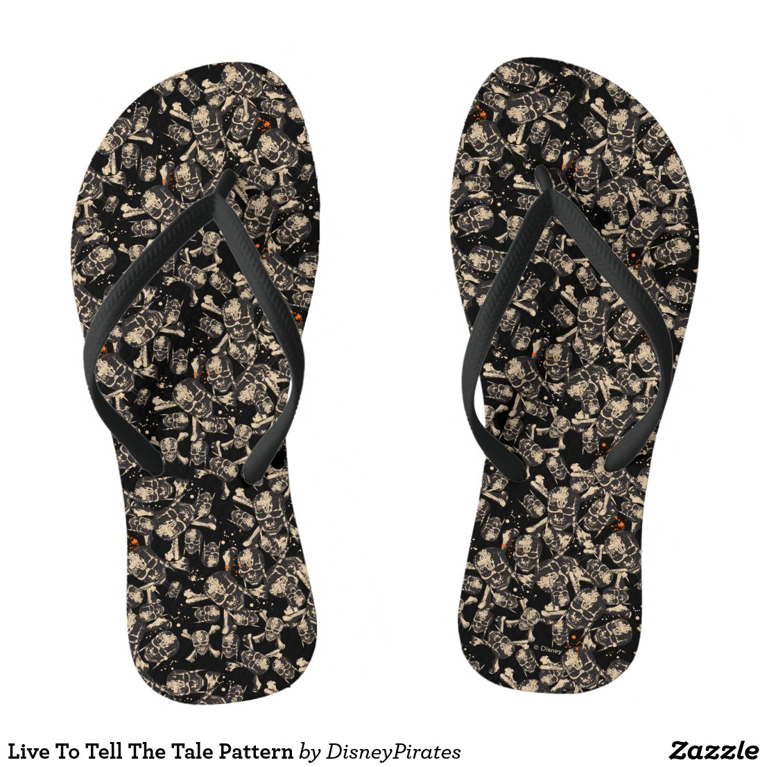 Live To Tell The Tale Pattern Flip Flops