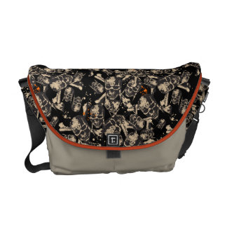 Live To Tell The Tale Pattern Messenger Bag