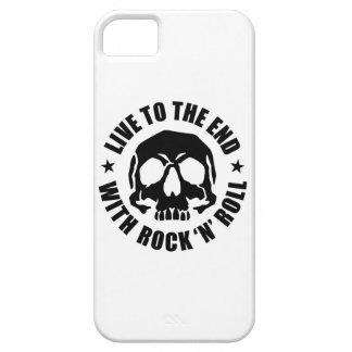 LIVE TO THE END WITH ROCK 'N' ROLL (W) SE/5s/5 iPhone SE/5/5s Case