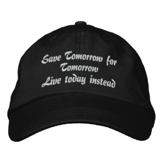 Live Today_ Embroidered Hat_by Elenne Baseball Cap