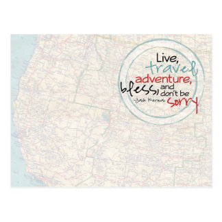 Live, Travel, Adventure, Bless Postcard