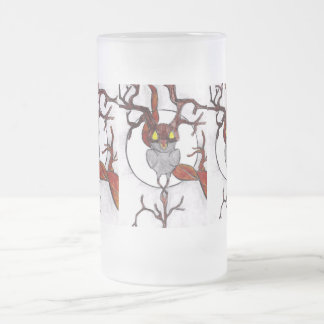 live tree 16 oz frosted glass beer mug