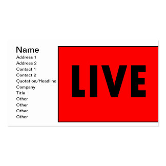 Live TV Business Card