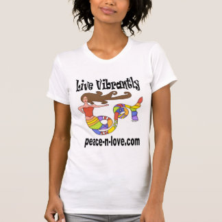 Live Vibrantly Mermaid Promotional T-Shirt