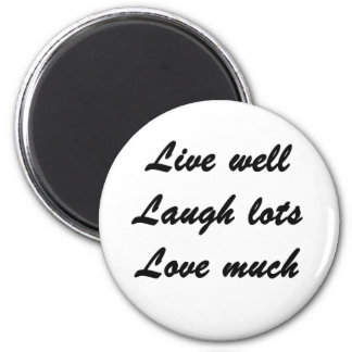 Live Well 2 Inch Round Magnet