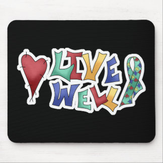 Live Well Autism Awarness Design Mouse Pad