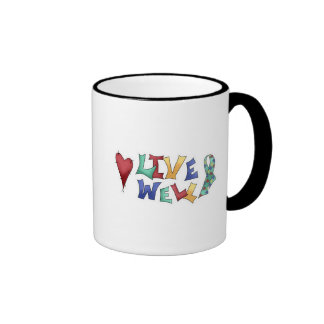 Live Well Autism Awarness Design Coffee Mug