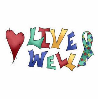 Live Well Autism Awarness Design Standing Photo Sculpture