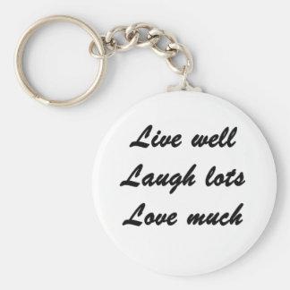 Live Well Basic Round Button Keychain