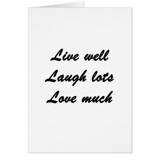 Live Well Card
