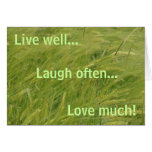 live well... cards