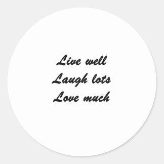 Live Well Classic Round Sticker