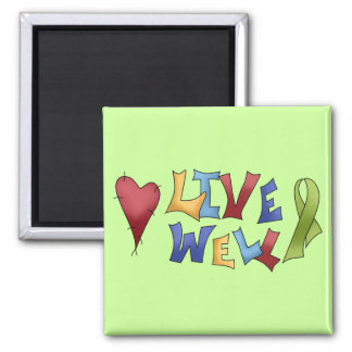 Live Well- Green Ribbon Magnets